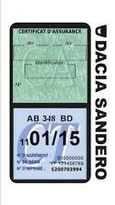 Porte vignette assurance DACIA SANDERO double étui voiture Stickers auto rétro