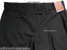 New Girls Marks & Spencer Black School Trousers Age 10 Years x 2 DEFECT