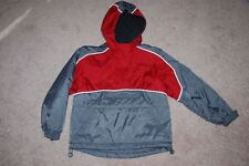 Child's winter pullover by SO, red/gray, size 7/8, EUC