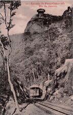 RIO DE JANEIRO BRAZIL ESTRADA de FERRO CORCOVADO RAILWAY~PHOTO POSTCARD 1910s