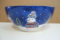 """St Nicholas Square 5 3/4"""" Christmas Snowman Bowl"""