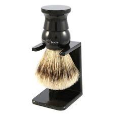 Edwin Jagger Imitation Ebony, Extra Large, Super Badger Shaving Brush + Stand
