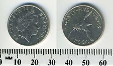 Bermuda 2000 - 25 Cents Copper-Nickel Coin - Yellow-billed tropical bird