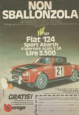 X9198 Fiat 124 Sport Abarth bburago - Pubblicità 1977 - Advertising