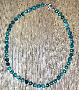 Pretty Vintage Malachite Beaded Necklace
