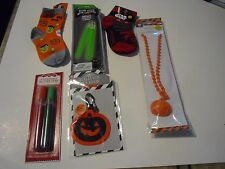 6 Christmas Holiday Decoration & Hallowen Socks Necklace Key Chain Glitter Pens