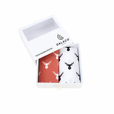Stag Deer Design White &  Red  LARGE hankies  hankerchiefs  shooting gift Boxed