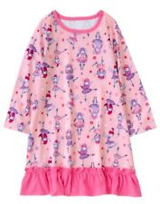 NWT Gymboree Girls Pink Ballerina nightgown girls size 10/12 Long Sleeve