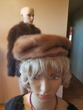 carson pirie scottie Vintage mink hat size 3 brown