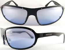STYLISH MOMO DESIGN HERREN/GENTS SUNGLASSES 7502, PURE TITANIUM, BLACK/ BLUE