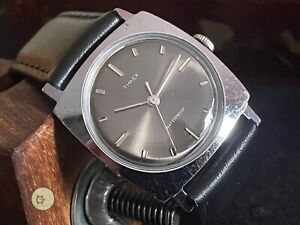 FULLY SERVICED vintage winding watch TIMEX MARLIN GB 1969 M24 SLATE DIAL
