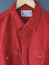 "BNWOTS LEVIS SHIRT L/XL ""WOVEN TOPS"" OVER-DYED COTTON POPPER BUTTONS LONG SLEEVE"