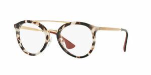 Authentic Prada Eyeglasses VPR15T 2AU-1O1 White Havana - Gold Frame 52mm RX-ABLE