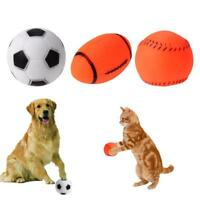 Interactive Dog Squeaky Toys Pet Puppy Cat Sound Squeaker Chew Play Ball Toy