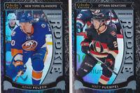 15-16 OPC Platinum Adam Pelech /99 Rookie BLACK ICE NY Islanders 2015