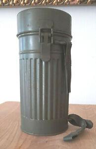 AUER Gasmaskendose Luftschutz mit Gasmaske RL1-38/3  WK2