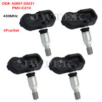 4x TPMS 42607-02031 PMV-C210 Tire Pressure Sensor 433MHz For Toyota RAV4 IV 2014