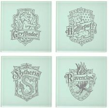 Harry Potter Inspired Engraved House Sigils - Glass Coasters - Pack of 4