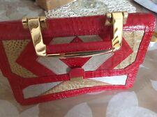 Sac À Main Cuir Rouge Genuine Leather