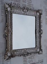Wall Mirror Antique Silver Bathroom Vanity 56x46 Baroque Reproduction 2