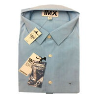 Express Men's NWT Blue Extra SLIM FIT Button Down L Sleeve Shirt XL / 17-17 1/2