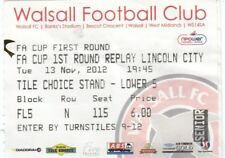 Ticket - Walsall v Lincoln City 13.11.12 FA Cup