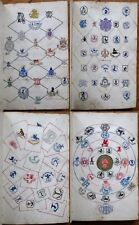 Monogram Collection - 19th Century Leather Book of 44+ Pages - ORIGINAL