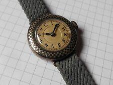 Antike Damen ⌚ mit Email Arbeit Art Deco Vintage Watch Handaufzug 800 Silber Uhr