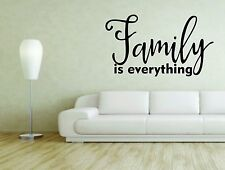 Wall Mural Sticker Decal Vinyl Decor Family Is Everything Quote Phrase Words