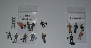 HO / OO Gauge Working People (Workers) in 5's or 10's - MULTI-LISTING