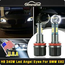 2x 120W Led Marker Angel Eyes Halo Ring 65000K White For BMW E92 328i 335i E93