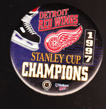 5 LOT 1997 DETROIT RED WINGS STANLEY CUP PINS BUTTONS NHL