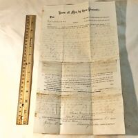 RARE 1880's Mortgage Deed Document From Old US Senator Antique Old Papers