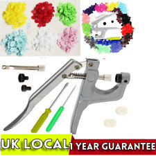 6 Colours 350 Sets Kam Snaps Snap Starter Plastic Poppers Fasteners 1 Plier Kit