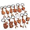 12 zodiac Natural Wood Keychain Key ring Handmade Wood  Key Chain Bag Pendant RT
