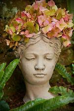 ❀ Pflanztopf Frauenkopf Antike Übertopf Büste 25,5 cm Venus Kopf Vintage Frau GW