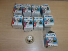 9 Philips 50w Halogen 2 pin bulbs
