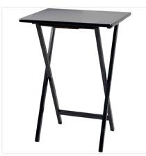 New Lot of 2 PJ Wood Folding TV Tray & Snack Table - Black