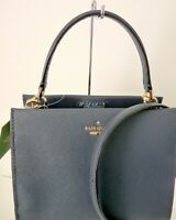 Kate Spade Cameron Street Sarah Small Blazer Blue Saffiano Leather Crossbody Bag
