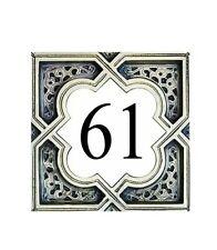 Targa ceramica ovale con numero civico f.to 13x18 cm numeri civici porcellana
