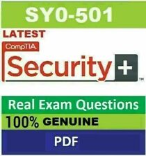 CompTIA Security+ SY0-501 Real Exam Questions & Answers - PDF