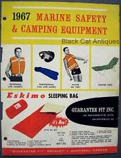 Orig 1967 Guarantee Fit Marine Safety & Camping Equipment Sales Brochure Canada