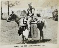 Bob Ellis Wrestling Cowboy Vtg Original Autographed 8x10 B/W Promo Photo Signed