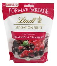 französische Lindt dunkle Schokolade Sensationfruit, Himbeere & Cranberry, 250g