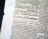CONFEDERATE General George McClellan Nominated President1864 Civil War Newspaper