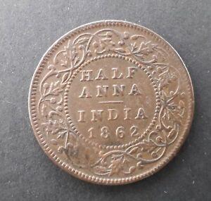 INDIA 1862 Half Anna coin - Queen Victoria