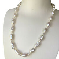 Nice Huge Natural White 13-16mm Huge Freshwater Baroque pearl necklace AAA+ 47cm