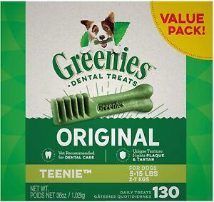 Greenies Original Teenie Natural Ingredients Dental Dog Treats for 5-15 lb Dogs