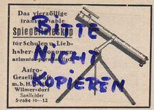 BERLIN, Werbung 1928, Astro-GmbH Spiegel-Teleskoph Technik Astronomie Linse Opti