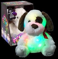 Luz Cachorro Perro De Peluche Suave para Niños Cambio De Color Luz De Noche Juguete 29-0096